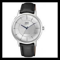 Relogio Qeq QA24J322Y Couro Black/Silver White