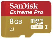 Cartao de Memoria Micro SD-Hci Extreme Pro Sandisk 8GB 95MBS CLASS10 U1