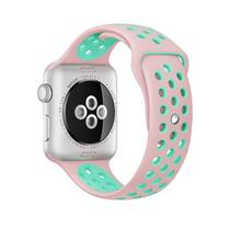 Pulseira 4LIFE de Silicone Nike para Apple Watch 42MM - Rosa/Turquesa