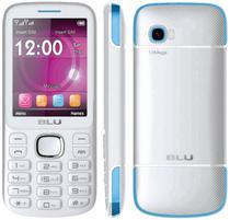 "Celular Blu Jenny TV T276 Dual Sim Tela 2.8"" Anatel Branco/Azul"