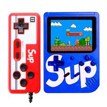 Console Mini Game Retro Portatil Sup Boy Game Box 400 In 1 Azul c/ Controle