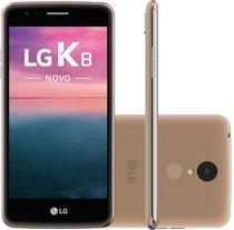"""Smartphone LG K8 Novo X240 16GB Lte Dual Sim Tela 5.0"""" Cam.13MP+5MP-Dourado/Preto"""