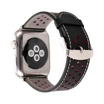 Pulseira 4LIFE de Couro para Apple Watch 38MM Preto/Vermelho