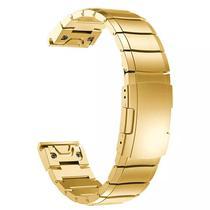 Pulseira 4LIFE de Aco Inoxidavel para Garmin Fenix 5S - Dourado