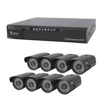 DVR CFTV X-Tech XT-KS618 c/ 8 Canais + 8 Cameras 3.6MM / 1000TVL- Preto