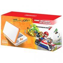 Nintendo 2DS XL New Laranja/Branco c/Mario Kart 7