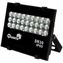 Refletor LED Quanta Sirius 30 de 27W com 2.700 Lumens Bivolt - Preto