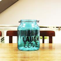 Vaso Decorativo Holly Mando Metal Azul