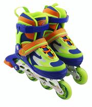 Patins Perfect Sports Roller SS-159A - Tamanho Ajustavel - 31 A 34 - Multicolorido