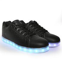 Tenis LED Gati TXL-19 No 34 - Preto