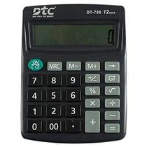 Calculadora DTC DT-786 com 12 Digitos - Preta