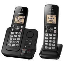 Telefone Sem Fio Panasonic KX-TGC362 com Secretaria Eletronica - Preto