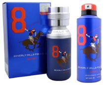 Perfume Beverly Hills Polo Club Sport Blue 8 Kit Masculino Edt 50ML + Deo 175ML