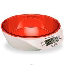 Balanca Digital para Cozinha Quanta QTBLC9000 para Ate 5KG - Branco e Laranja