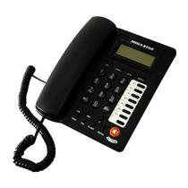 Telefone Fixo Megastar FT-750 com Identificador de Chamadas - Preto