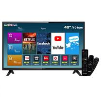 "Smart TV LED Hyundai Full HD 40"" / USB / Wifi / HDMI / Conversor Digital - Preto (HY40ATFA)"
