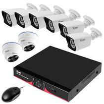 Kit CFTV X-Tech XT-KHD818 de 8 Canais com 8 Cameras