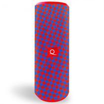 Caixa de Som Quanta QTSPB30 com Radio FM, USB, e Bluetooth - Vermelho e Azul