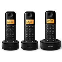 Telefone Sem Fio Philips D1303B (3) 2VOLT- Preto