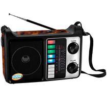 Radio Portatil FM/ AM/ SW Megastar RX-446BTS com Bluetooth/ USB/ Lanterna - Preto