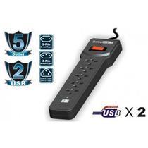 Filtro de Linha Satellite A-R07 5 Tomadas + 2 USB
