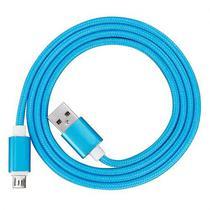 Cabo USB Microusb 4LIFE para Android - Azul
