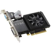 Placa de Vídeo EVGA GT710 2GB/ DDR3/ HDMI/ VGA/ 64B/ 954MHZ (02G-P3-2713-KR)