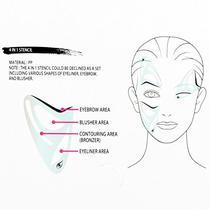 Modelador de Contorno Facial Icandy Beauty Stencils 4 Em 1