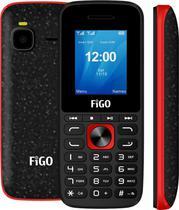 Celular Figo Link A180 DS - 1.77 Polegadas - Dual-Sim - 2G - Vermelho