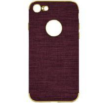 Capa para iPhone 7/8 Wesdar Material de Tecido - Roxo e Dourado