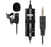 Microfone Boya BY-M1 p/Filmadoras-DSLR-PC-Grabadores Preto