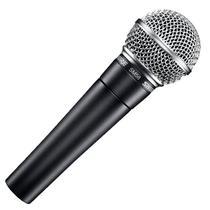 Microfone Vocal Shure SM58-LC com Fio Preto