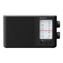 Radio Portatil FM/AM Sony ICF-190 A Pilha 500MW - Preto