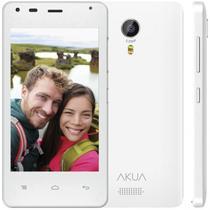 """Smartphone Akua EK4 4GB 3G Dual Sim Tela 4.0"""" Cam. 5MP - Branco"""
