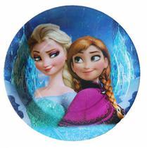 Pratos Descartaveis Frozen para Festa 10 Unidades 18 X 18 CM