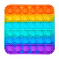 Brinquedo Pop It Fidget PS-21 Anti Estresse - Silicone - Quadrado Colorido