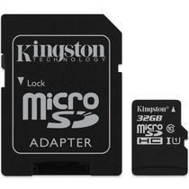 Cartao de Memoria Kingston - 32GB - Micro SD + Adaptador - Classe 10