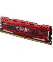 Memória DDR4 8GB 2400 Crucial Ballistix Sport Gam Red