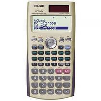 Calculadora Financeira Casio FC-200V com Funcao de Amortizacao - Dourada/Cinza