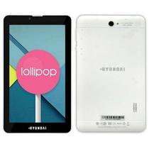 """Tablet Hyundai HDT-7435G4 8GB / 1GB Ram / Dual Sim / Tela 7"""" - Branco"""
