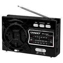 Radio Portatil AM/FM/SW Satellite AR-310BT 3W com Bluetooth/Lanterna LED - Preto