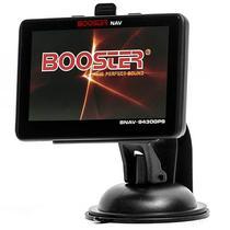 """GPS Booster BNAV-9430GPS Tela 4.3"""" com Mapa/Memoria Interna de 8GB - Preto"""