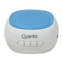 Caixa de Som de Som Quanta QTSPB-225 Bluetooth 3 Watts c/ Entrada USB/Micro SD - Branco/Azul