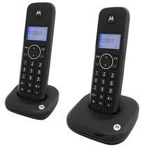 Telefone Sem Fio Motorola MOTO550ID-2 com Identificador de Chamadas - Preto
