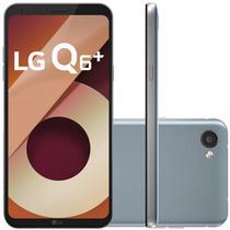 "Smartphone LG Q6+ M700A 64GB Lte Dual Sim Tela 5.5"" Cam.13MP+5MP-Cinza"