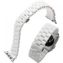 e83d3965cee Pulseira 4LIFE de Metal Ceramico para Apple Watch - 42MM - White