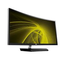 """Monitor Curvo Gamer de 35"""" AOC C3583FQ Full HD com HDMI/DVI/VGA - Preto"""