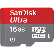 Cartao de Memoria Sandisk SDHC 16GB/80MBS Classe 10