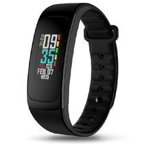 """Smartwatch Zeblaze Plug C para Atividades Fisicas, Tela 0.85"""", 90MAH, Unissex - Preto"""