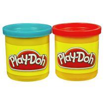 Massageador de Modelar Hasbro Play-Doh Vermelho/Azul 23656 2 Potes
